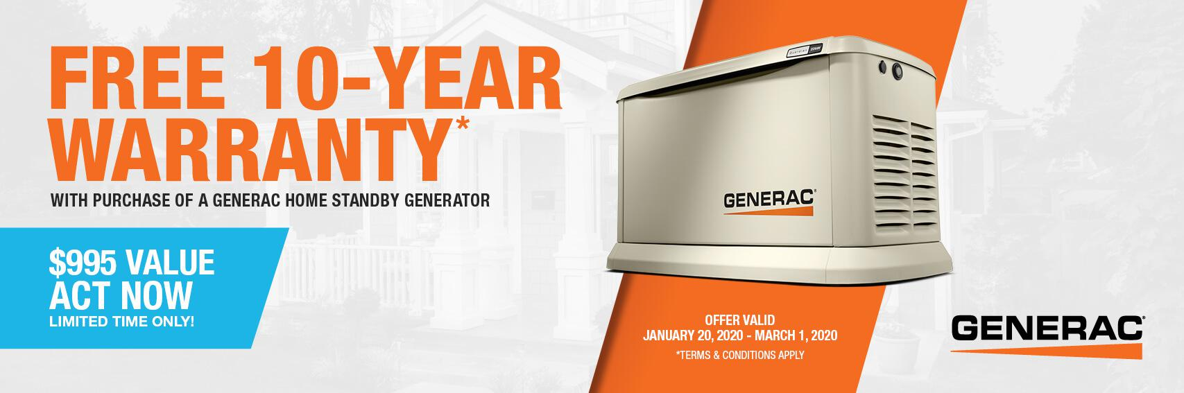 Homestandby Generator Deal | Warranty Offer | Generac Dealer | Remlap, AL